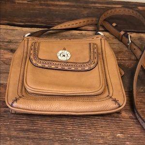 Brighton Tan Crossbody wallet purse